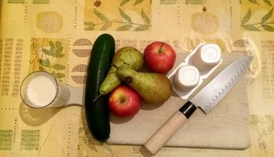 Courgette, poire et pomme (modifiée photofiltre)