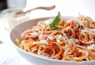 spaghetti à la bolognaise végétarienne
